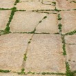 Old sidewalk from big cobble-stones — Stock Photo