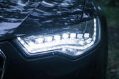 Headlight of modern car — Stok fotoğraf