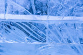 Ice transparent wall — Stockfoto
