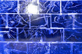 Ice transparent wall — Stock Photo