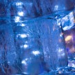 Stock Photo: Ice transparent wall