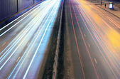 Night city highway — Stock Photo