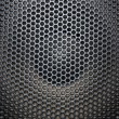 Stock Photo: Loudspeaker grid with round openings