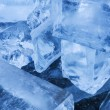 Ice transparent blocks — Stock Photo