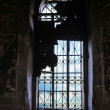 Stock Photo: Window with lattice in old thrown temple