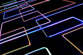 Background with shining fluorescent color tubes — Stock Photo