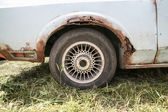 Old car with rust on body  — Stock Photo
