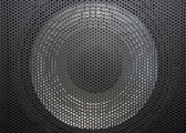 Loudspeaker grid with round openings — Stock Photo