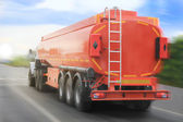 Gas-tank truck goes on highway — Stock Photo