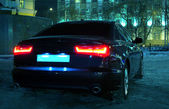 Car at winter night — Foto de Stock