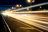 Gece karayolu — Stok fotoğraf