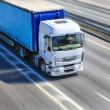 Truck moves on highway — Stock Photo #45337197