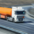 Fuel truck on the highway — Stock Photo