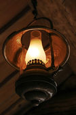 Ancient metal lamp — Stockfoto