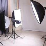 Interior modern studio photo — Stock Photo