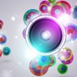 Colorful Music Funky Background — Stock fotografie