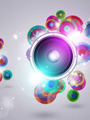 Colorful Music Funky Background — Stock Photo