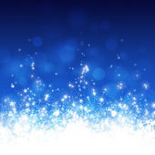 Blue Snowy Christmas — Stock Photo