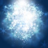 Luces de navidad de los copos de nieve — Foto de Stock
