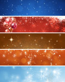 Abstract Xmas Banners — Stock Photo