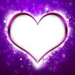 Purple Valentine Heart Background - Stock Photo