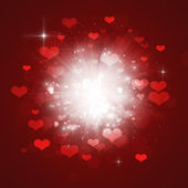 Valentine Hearts Explosion — Stock Photo