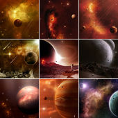 Faraway Space Worlds — Stock Photo