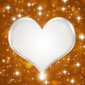 White Glitter Heart — Stock Photo