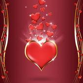 Bright Hearts — Stock Photo