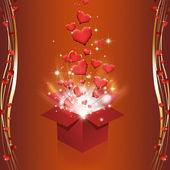 Magic Box with Hearts — Stock Photo