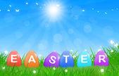 イースターの日当たりの良い背景 — ストック写真