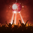 Disco Party Crowd - Stock Photo