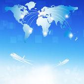 Världen luft resedestinationer — Stockfoto