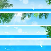 Tropica Beach Banners — Stock Photo