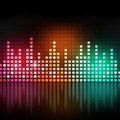 Multicolor Music Equalizer — Stock Photo