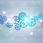 Gears Technology Background — Stock Photo