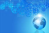 Blue Business Tech Background — Stock Photo