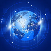 Globe Network Connections — Stock Photo