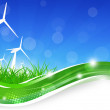 Green Power Wind Turbines Illustration — Stock Photo