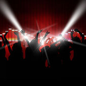 Music Party People — Stock Photo