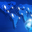 Global Network Business Background — Stock Photo