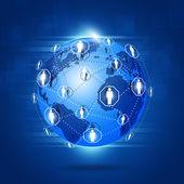 Globales netzwerk-verbindungen — Stockfoto