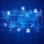 Communications Blue Background — Stock Photo