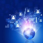 World Business Network Background — Stock Photo