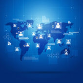 People Global Connections — Stock Photo