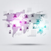 People World Connections — Stock Photo