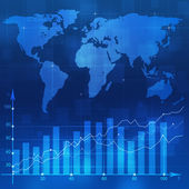 Stock Diagram Blue Backgorund — Stock Photo
