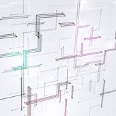 Digital Lines Black and White Background — Zdjęcie stockowe