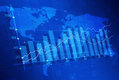 Stock Market Finance Diagram — Stock Photo