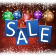 Stock Photo: Christmas Sale Notice